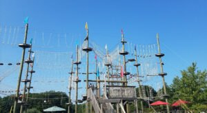 Get Ready For Some High Flying Fun When This Family Friendly Adventure Park In Maine Finally Opens For The Season