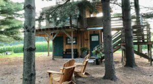 Stay Overnight At This Spectacularly Unconventional Treehouse In Michigan