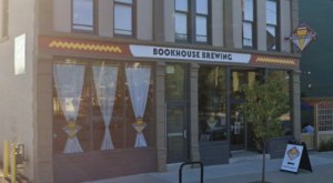 Cleveland's Bookhouse Brewing Is Filled To The Brim With Bookshelves And Reading Space