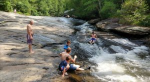 Take A Short 0.2-Mile Hike To A Fun Little Waterfall Swimming Hole In South Carolina