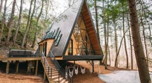 Stay At The Dunlap Hollow A-Frame And Hike To Private, Scenic Trails In Ohio's Hocking Hills