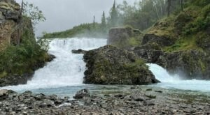 Hike To The Base of Tanalian Falls Along This Stunning Alaskan Trail On Lake Clark