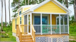 Colorful Island Bungalows And Luxury Tents Await At The Chincoteague KOA In Virginia