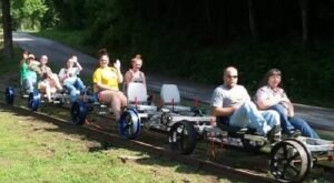For A Unique New Way To Explore West Virginia, Ride A Rail Bike Down The Buffalo Creek Trail