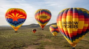 Drift Over The Sonoran Desert In A Hot Air Balloon With Rainbow Ryders In Arizona