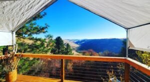 Wake Up To An Unbelievable View When You Sleep In This Canvas-Wall Tent On The Side Of A Mountain In Idaho