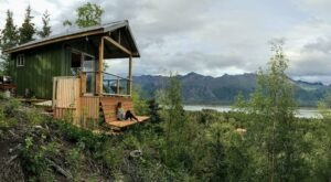 Wake Up To Knik Glacier Views In This Cozy Cabin In The Alaska Woods