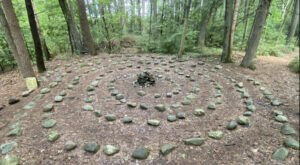 There's A Tranquil Stone Labyrinth Hiding In Massachusetts' Amethyst Brook Forest