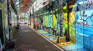 Covered With Art And Stained Glass, Modica Way May Be The Most Colorful Alleyway In Massachusetts