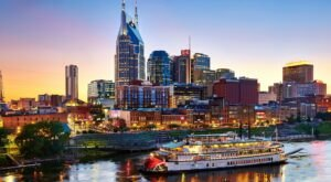 Enjoy The Best Views Of Downtown Nashville When You Take An Evening Cruise On The General Jackson Showboat