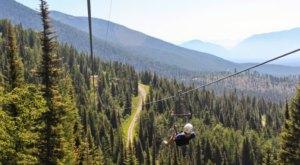 Take A Ride On The Longest Zipline In Montana At Whitefish Mountain Resort