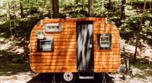 For Just $53 A Night, You Can Stay In A Vintage Wood Camper In Beautiful Brown County In Indiana