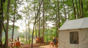Enjoy An Idyllic Camping Experience On This Stunning Lavender Farm In Maine