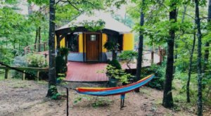 It's Impossible Not To Love A Night Of Glamping In This Brightly-Colored Mountain Yurt In Virginia