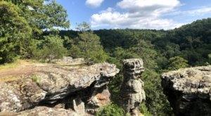 Pedestal Rocks Loop Trail In Arkansas Is Full Of Awe-Inspiring Rock Formations