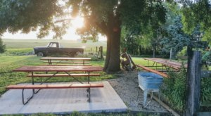 Pitch Your Tent In The Lush Grapevines Of This Iowa Winery That's Also A Campground