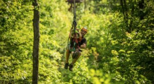 Take A Ride On One Of The Longest Ziplines In Tennessee At CLIMB Works