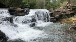 Hike Less Than A Quarter Mile To This Spectacular Waterfall Swimming Hole In Virginia