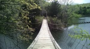 Explore A New Side Of Greenleaf State Park With the Ankle Express, A Special Trail with Suspension Bridge In Oklahoma