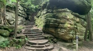 Ledges Trail and Pine Grove Trail Loop In Ohio Is Full Of Awe-Inspiring Rock Formations