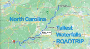 Spend The Day Exploring North Carolina's Tallest Falls On This Wonderful Waterfall Road Trip