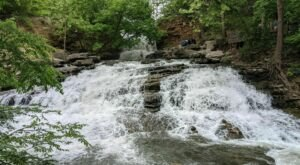 Swim At The Bottom Of A Multi-Tiered Waterfall After The 2-Mile Hike To Tanyard Creek Falls In Arkansas