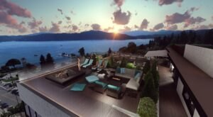One Lakeside Is A Beautiful Waterfront Hotel In Idaho With A Rooftop Terrace And Stunning Views