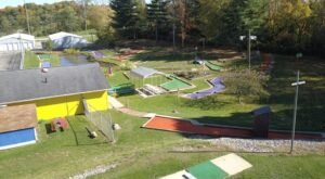 Play Glow-In-The Dark Miniature Golf And Other Yard Games At Kelly's Dairy Bar And Miniature Golf In Ohio