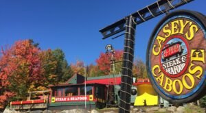 Casey's Caboose Is A Train-Themed Restaurant In Vermont That Will Make You Feel Like A Kid Again
