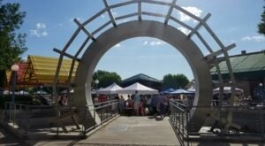 Shop For Fresh Produce In A Historic Downtown Square At The Town Square Farmers Market In North Dakota