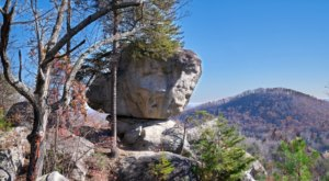 Walk Through Giant Boulders On Top Of A Mountain When You Hike The 2.2-Mile Big Rock Mountain Trail In South Carolina