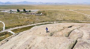 Not Many People Realize You Can Climb To The Top Of Independence Rock In Wyoming