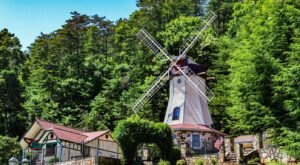You Can Sleep Inside An Actual Windmill At The Heidi Motel & Windmill Suites In Georgia
