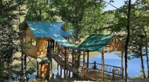 Experience A Fairytale Come To Life When You Stay At The Rustic-Themed Treehouse In Georgia
