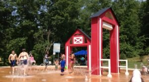 There's A Farm Themed Playground And Splash Pad In Pennsylvania Called Round Hill Park Splash Pad