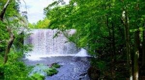 Visit Puffer's Pond In Massachusetts, A Hidden Gem Beach That Has Its Very Own Waterfall