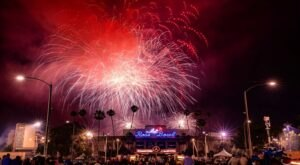Celebrate The 4th Of July With Fireworks At Rose Bowl Stadium In Southern California For Its 95th Year