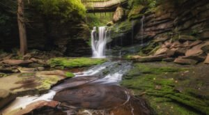 Elakala Falls Is A Picturesque Waterfall Hidden Just Steps From Blackwater Falls Lodge In West Virginia