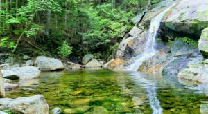 Hike Less Than 1.5-Miles To This Spectacular Waterfall Swimming Hole In New Hampshire
