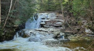 Hike Less Than A Mile To This Spectacular Waterfall Swimming Hole In Maine