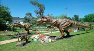 There's A Dinosaur Themed Playground In Georgia Called Dino Village