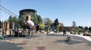 There's A Nature Themed Playground And Splash Pad In Oregon Called Spring Garden Park