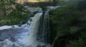 Hike Less Than Two Miles To This Spectacular Waterfall Fishing Hole In Connecticut