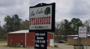Enjoy A Mouthwatering Steak At The Oaks Steakhouse, A Charming, Rustic Restaurant In Oklahoma