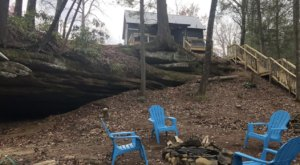 Spend The Night In An Airbnb That Walks Out To An Actual Grotto Right Here In Kentucky