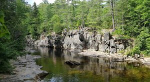You'll Want To Spend All Day At Coos Canyon, A Waterfall-Fed Pool In Maine