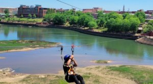 You Can Zip Line From Georgia Into Alabama Over The Chattahoochee River