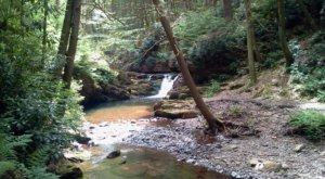 Hike Less Than A Mile To This Spectacular Waterfall With A Rock Beach In New Jersey