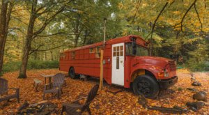 Spend The Night In An Airbnb That's Inside An Actual School Bus Right Here In New York