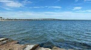 Walk Alongside The Corpus Christi Bay On The 3-Mile North Beach Beach Walk In Texas